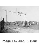 #21690 Stock Photography Of A Pole Vaulter G Dukes Doing A High Jump