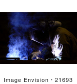 #21693 Stock Photography Of A Welder Working