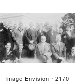 #2170 President Coolidge With Association Of Hotel Owners