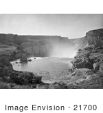 #21700 Stock Photography Of The Top Of The Shoshone Falls Waterfalls In Snake River Canyon Idaho