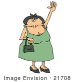 #21708 Clipart Of A Gross Hairy Woman Or Cross Dresser With Lots Of Body Hair