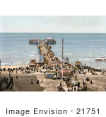 #21751 Historical Stock Photography Of The North Pier On The Irish Sea In Blackpool Lancashire England