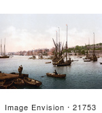 #21753 Historical Stock Photography Of Ships On The River Medway In Chatham Kent England United Kingdom