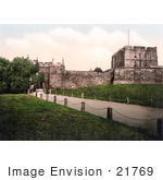 #21769 Historical Stock Photography Of The Carlisle Castle In Carlisle Cumbria England United Kingdom