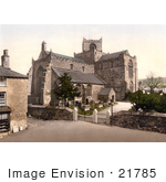 #21785 Historical Stock Photography Of The 12th Century Cartmel Priory Church In Cartmel Cumbria England