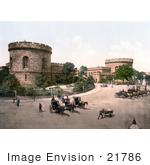 #21786 Historical Stock Photography Of The Citadel Towers In Carlisle Cumbria England United Kingdom