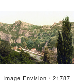#21787 Historical Stock Photography Of The Village Of Cheddar England Somerset United Kingdom