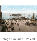 #21789 Historical Stock Photography Of The North Pier On The Irish Sea In Blackpool Lancashire England