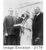 #2179 Miss Ruth Muskrat With President Coolidge