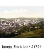 #21794 Historical Stock Photography Of The Truro Cathedral And Carvedras Viaduct In Truro Cornwall England