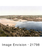 #21798 Historical Stock Photography Of Hotels On The Coastal Cliffs Over The Beach At Trevone Cornwall England Uk