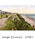 #21801 Historical Stock Photography Of The West Cliff Of Clacton-On-Sea On The Tendring Peninsula Essex England