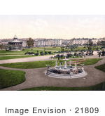 #21809 Historical Stock Photography Of A Gazebo And Water Fountain In The Park In Devonport England