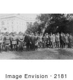 #2181 President Calvin Coolidge With Members Of The Military Order Of The World War