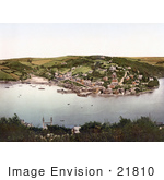 #21810 Historical Stock Photography Of The Village Of Kingswear On The River Dart In South Hams Darmouth Devon England