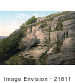 #21811 Historical Stock Photography of The Lovers Seat Cliff in Fairlight Hastings Sussex England by JVPD