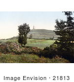#21813 Historical Stock Photography Of St Michael'S Tower On The Glastonbury Tor In Somerset England