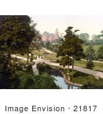 #21817 Historical Stock Photography Of People Strolling Through The Valley Gardens In Harrogate North Yorkshire England