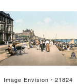 #21824 Historical Stock Photography Of People Strolling On The Promenade On The English Channel In Deal Kent England
