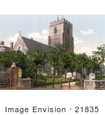 #21835 Historical Stock Photography Of The Historical St Mary'S Church In Folkestone England