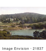 #21837 Historical Stock Photography Of Watermouth Castle And Boat Houses In Ilfracombe England
