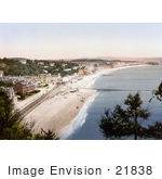 #21838 Historical Stock Photography of the South Devon Railway Sea Wall and Seafront Buildings in Dawlish Devon England by JVPD