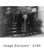 #2184 Pres And Mrs Calvin Coolidge And Sons