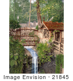 #21845 Historical Stock Photography Of A Stream In Shanklin Chine Isle Of Wight England