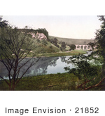 #21852 Historical Stock Photography Of The Midland Railway Headstone Viaduct Over The River Wye In Monsal Dale Derbyshire England