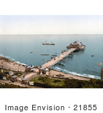 #21855 Historical Stock Photography Of The Victoria Pier At Folkestone Kent England