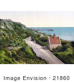#21860 Historical Stock Photography Of The Lower Sandgate Road In Folkestone Kent England