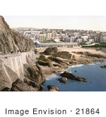 #21864 Historical Stock Photography Of The Beach And City Buildings Ilfracombe In Devon England