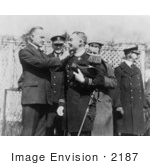 #2187 President Coolidge Decorating Lieut Thomas J Ryan With The Congressional Medal Of Honor