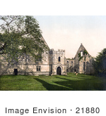 #21880 Historical Stock Photography Of The Ruins Of Wingfield Manor In Derbyshire East Midlands England