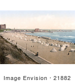 #21882 Historical Stock Photography Of Tents On The Beach In Gorleston Norfolk England