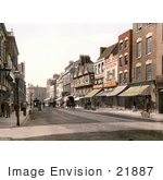 #21887 Historical Stock Photography Of Storefronts And Street Scene Of Southgate Street In Gloucester England