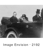 #2192 President And Mrs Coolidge In Convertible Automobile