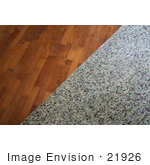 #21926 Stock Photography of Carpet Pads Being Pulled Off of Wood Flooring by Jamie Voetsch
