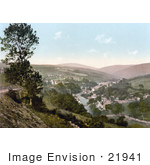 #21941 Stock Photography Of The Village Of Laxey On The River Isle Of Man England
