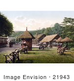 #21943 Stock Photography Of Benches And Ticket Booths At The Tram Station In Laxey Isle Of Man England