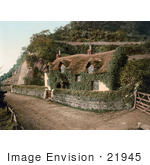 #21945 Stock Photography Of A Cute Ivy Covered Swiss Cottage In Lee Devon England