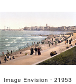#21953 Stock Photography Of People On The Beach And Promenade In Margate St Margaret'S Bay North Foreland Thanet East Kent England Uk