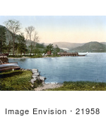 #21958 Stock Photography Of A Steamer At The Howtown Pier On Ullswater Lake District England United Kingdom
