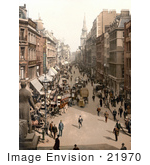 #21970 Stock Photography Of The Busy Street Of Cheapside In London England