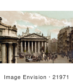 #21971 Stock Photography Of The Wellington Statue Outside The Royal Exchange In London England