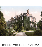 #21988 Stock Photography Of The Ivy Covered Troy House In Monmouth Wales Monmouthshire Gwent England Uk