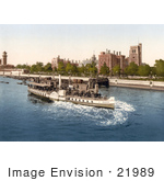 #21989 Stock Photography Of Steamboat On The River Thames Passing The Lambeth Palace In London England
