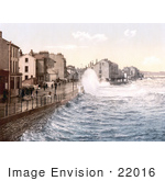 #22016 Stock Photography Of Waves Crashing On The Shore In Ramsey Isle Of Man England