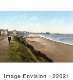 #22021 Stock Photography Of A Boy Near The Beach And Royal Hotel In Lowestoft Suffolk East Anglia England Uk