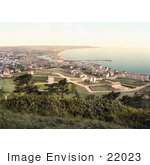 #22023 Stock Photography Of A Cityscape Of The Coastal Village Of Ramsey Isle Of Man England